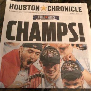 World Series Champs original news print ..